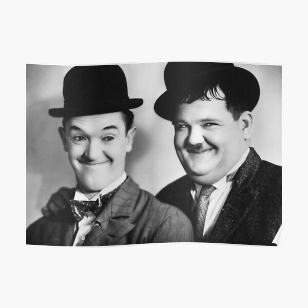 VINTAGE CLASSIC PHOTO | BLACK AND WHITE | LAUREL AND HARDY Poster