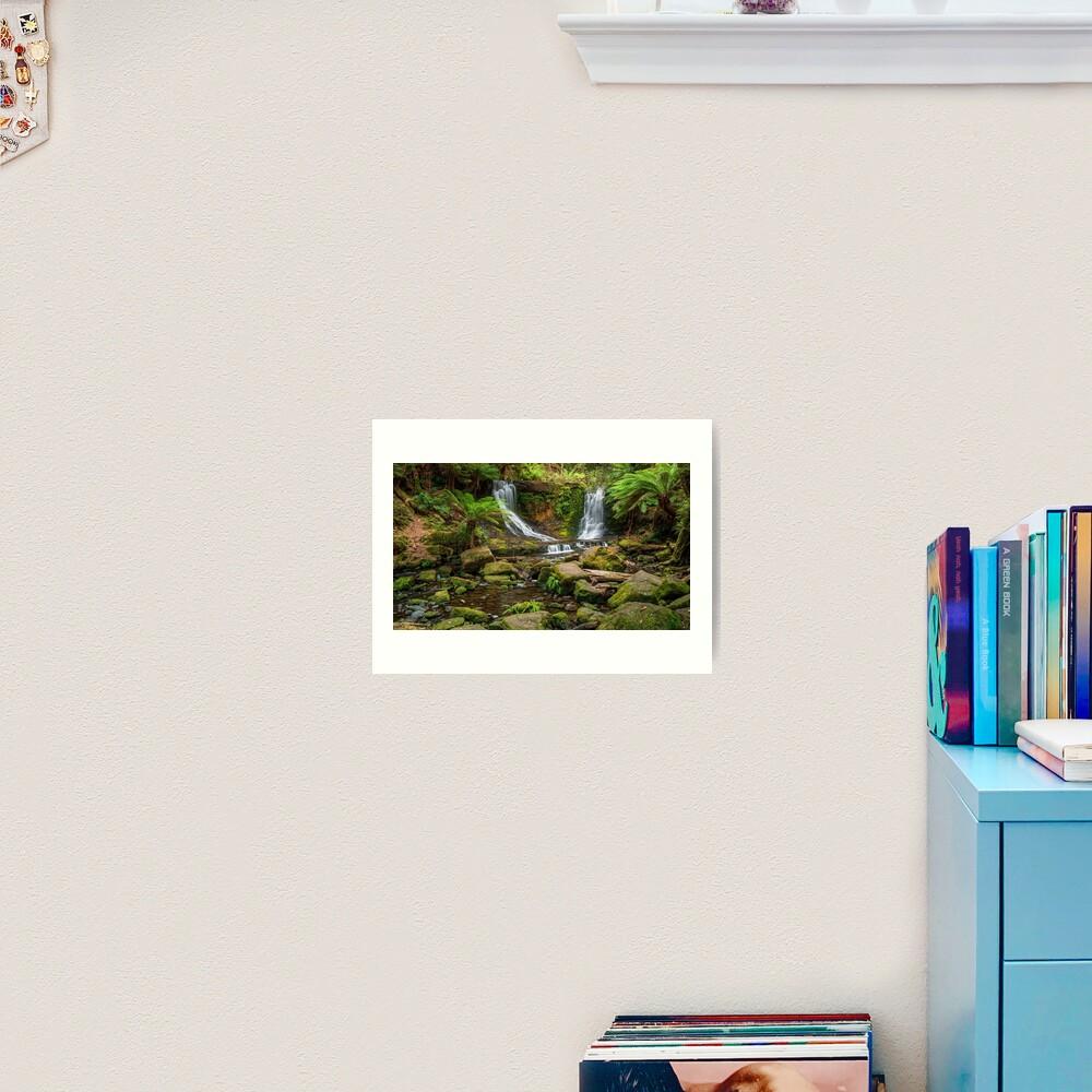 Horse Shoe Falls, Mt Field, Tasmania Art Print