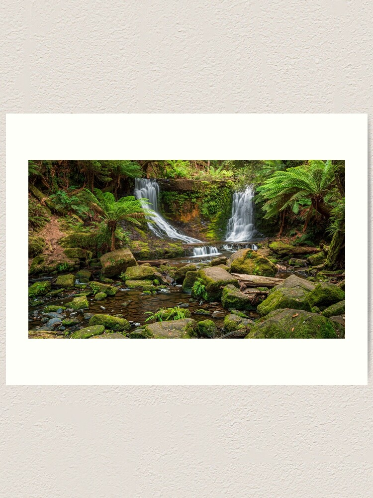 Alternate view of Horse Shoe Falls, Mt Field, Tasmania Art Print