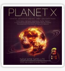 PLANET X NIBIRU INFOGRAPHIC Sticker