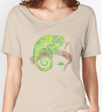 Swirly Chameleon Women's Relaxed Fit T-Shirt