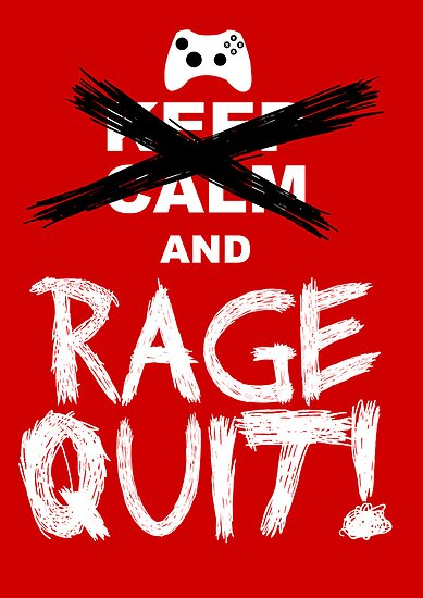 RAGE QUIT! Poster (Xbox Version) by Salonga