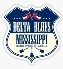 Pegatina Delta Blues Mississippi