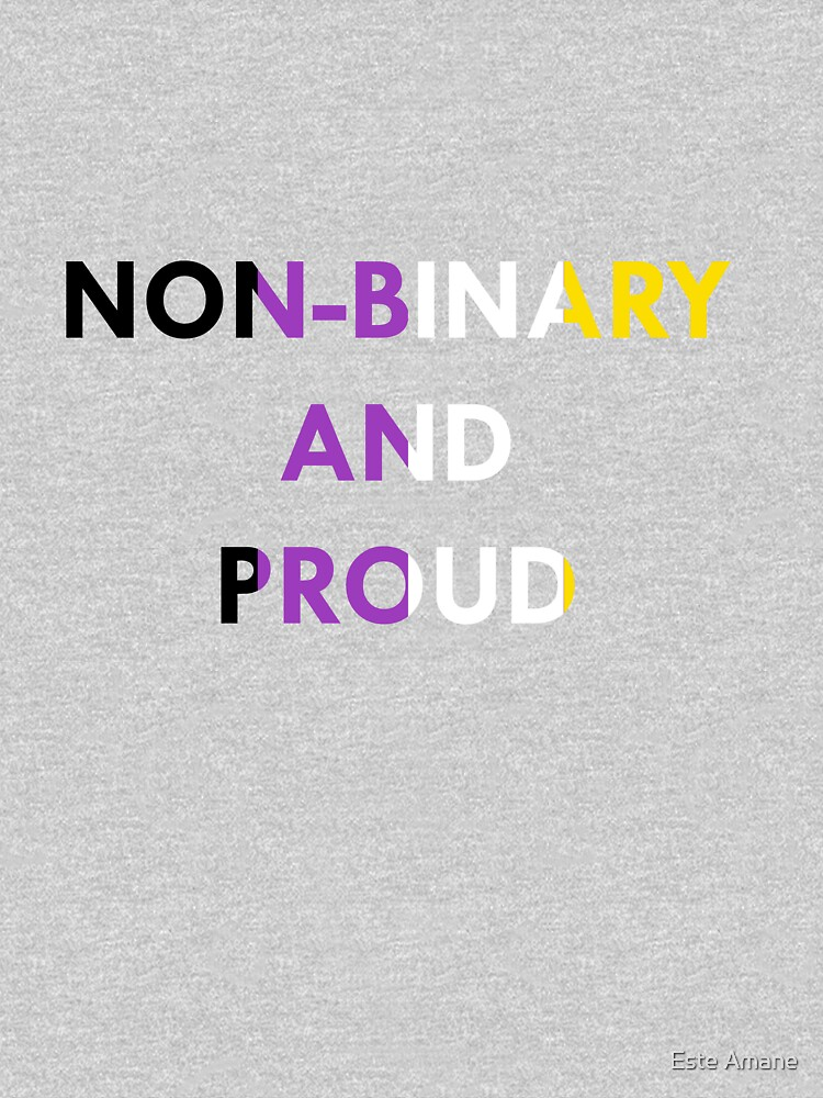 Non-Binary and Proud - Flag Colors by madalynwilliams