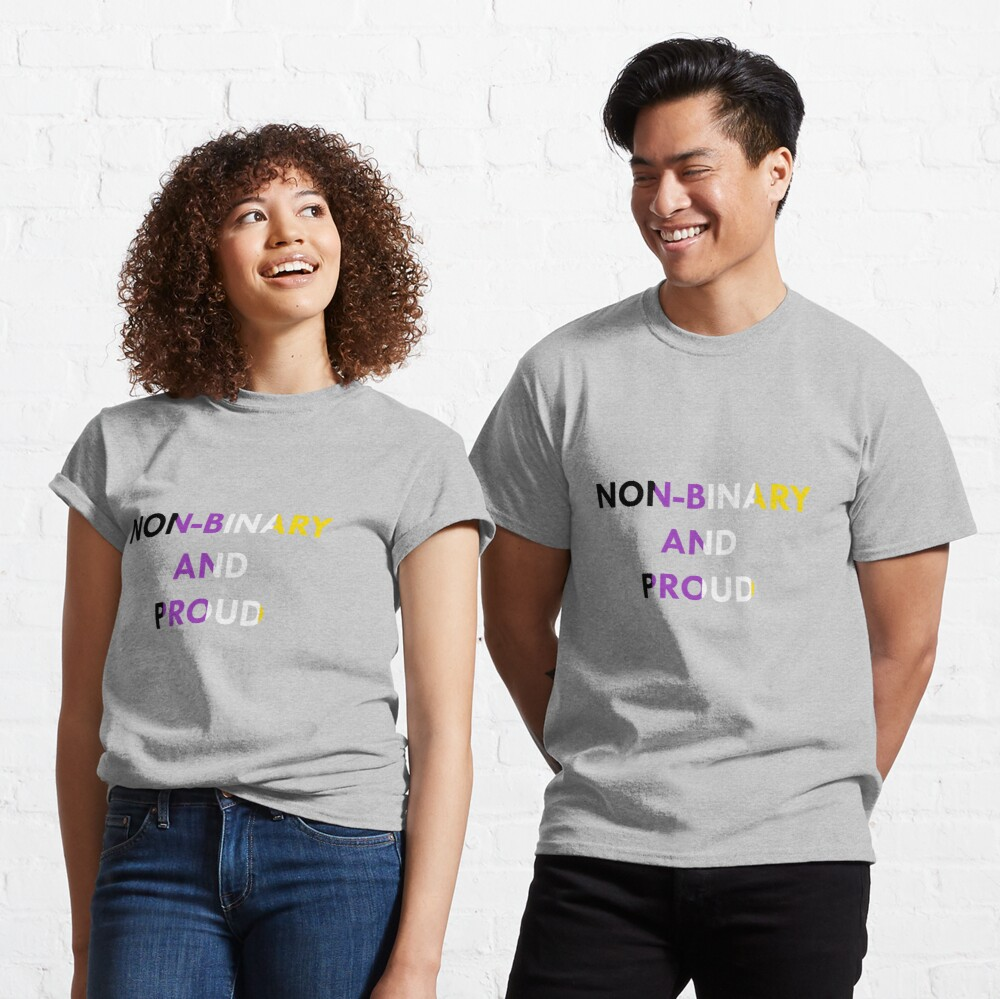Non-Binary and Proud - Flag Colors Classic T-Shirt