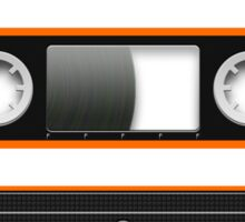 Cassette Tape Mixtape Orange Black Sticker Sticker