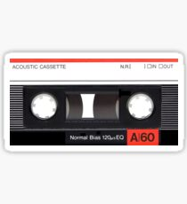 Cassette Tape Mixtape A60 Label Sticker Sticker