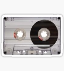 Cassette Tape Mixtape Clear Plastic 2 Sticker Sticker