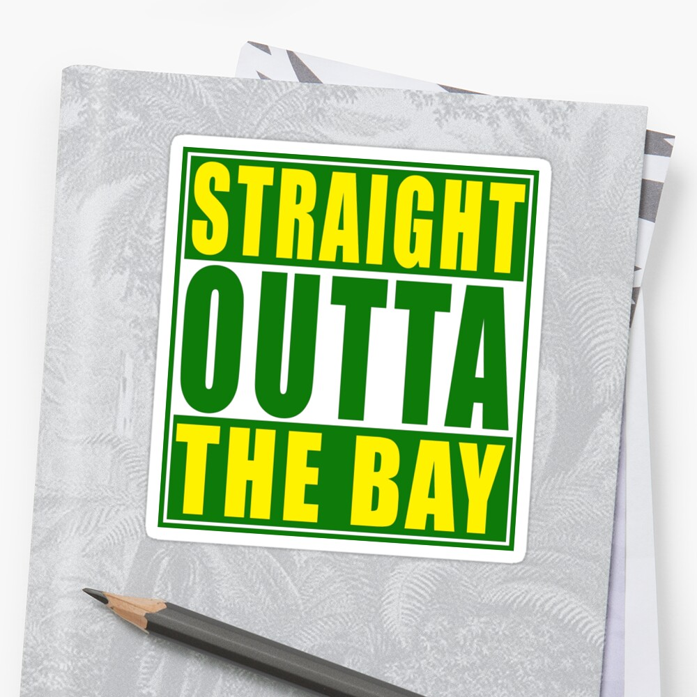 Straight Outta The Bay Green by straightoutta