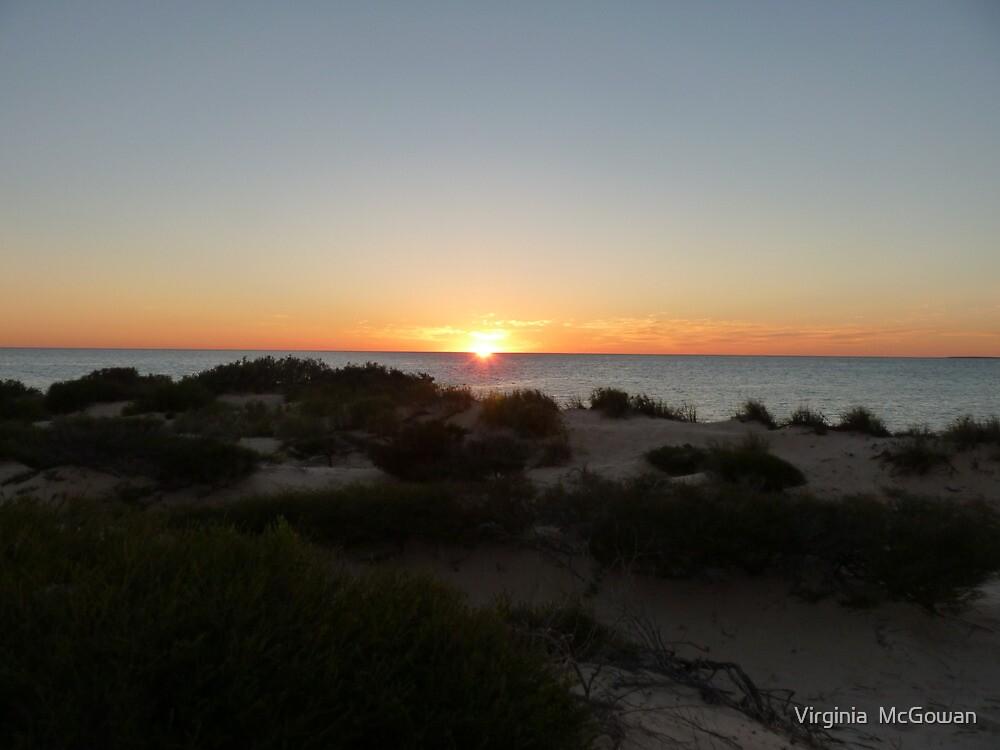 Monkey Mia Western Australia Sunrise #1 by Virginia  McGowan