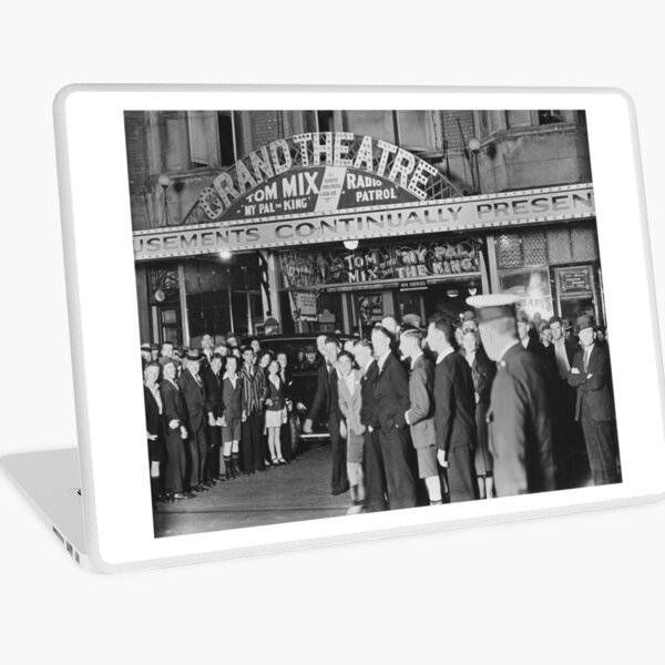 Audience outside the Grand Theatre , Murray Street, Perth, Western Australia, State Library of Western Australia Laptop Skin