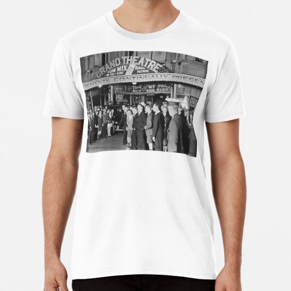 Audience outside the Grand Theatre , Murray Street, Perth, Western Australia, State Library of Western Australia Premium T-Shirt