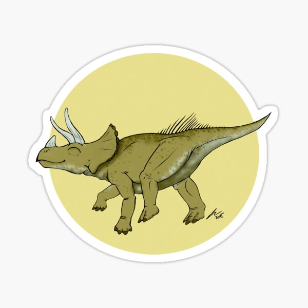 Be a happy Triceratops! Sticker