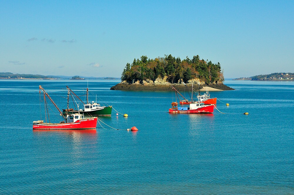 Boats, Harbor, Lubec, Maine by fauselr