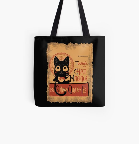 Le Chat Magique All Over Print Tote Bag
