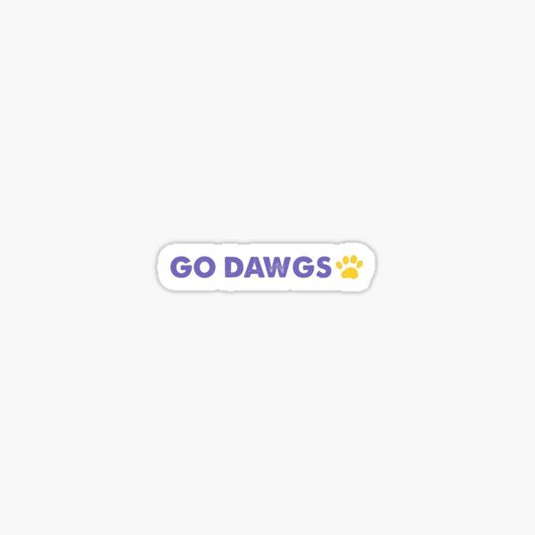 Go Dawgs University of Washington  Sticker