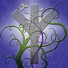 Algiz Rune from the Elder Futhark by anankeblue