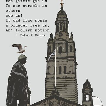 Robert Burns Ponders Glasgow City Chambers by simpsonvisuals