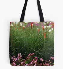 Red Poker Garden Flower Bed Tote Bag