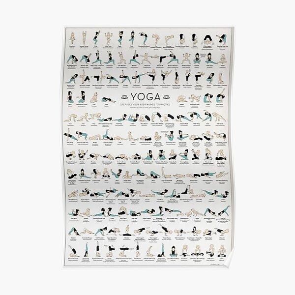 Cartel de yoga - 150 poses Póster
