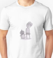 button boy and pumpkin kid T-Shirt