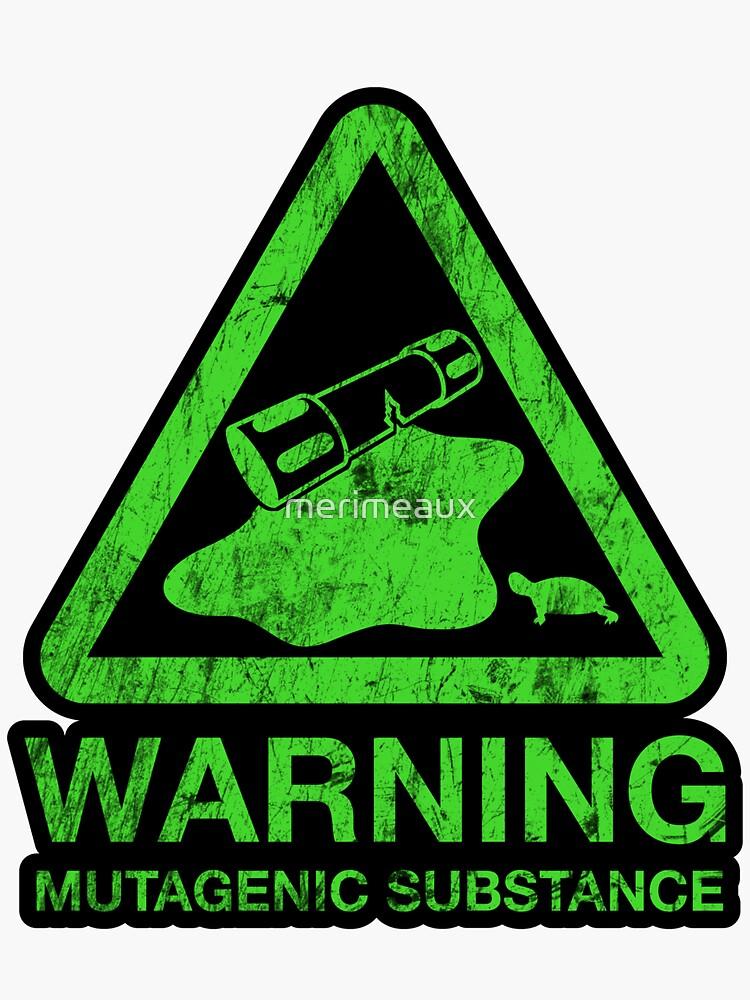 Sticker! The Danger of the Ooze by merimeaux