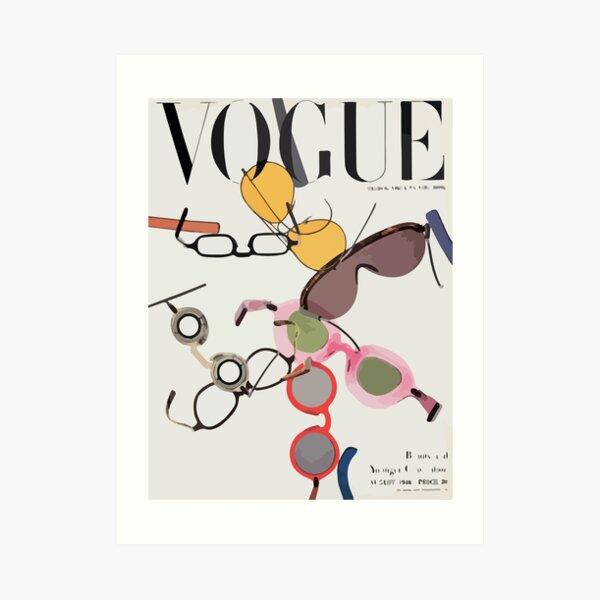 Vogue cover august 1946 Art Print