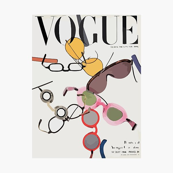 Vogue cover august 1946 Photographic Print