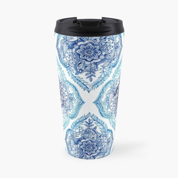 Indian Ink - in blues Travel Mug