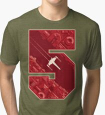Red Five Tri-blend T-Shirt
