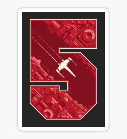 Red Five Sticker