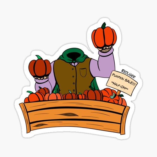 Halloween Monster Delight - Headless Horseman Sticker