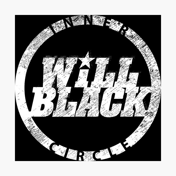 WB Inner Circle WHITE (center ice logo) Photographic Print