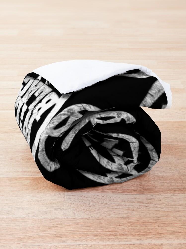 Alternate view of WB Inner Circle WHITE (center ice logo) Comforter