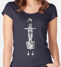 Robot Totem - BiLevel White Women's Fitted Scoop T-Shirt
