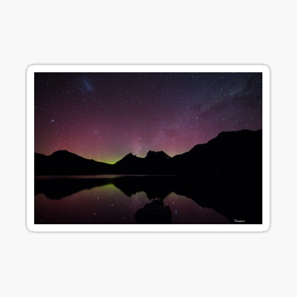 Aurora Australis at Cradle Mountain Sticker