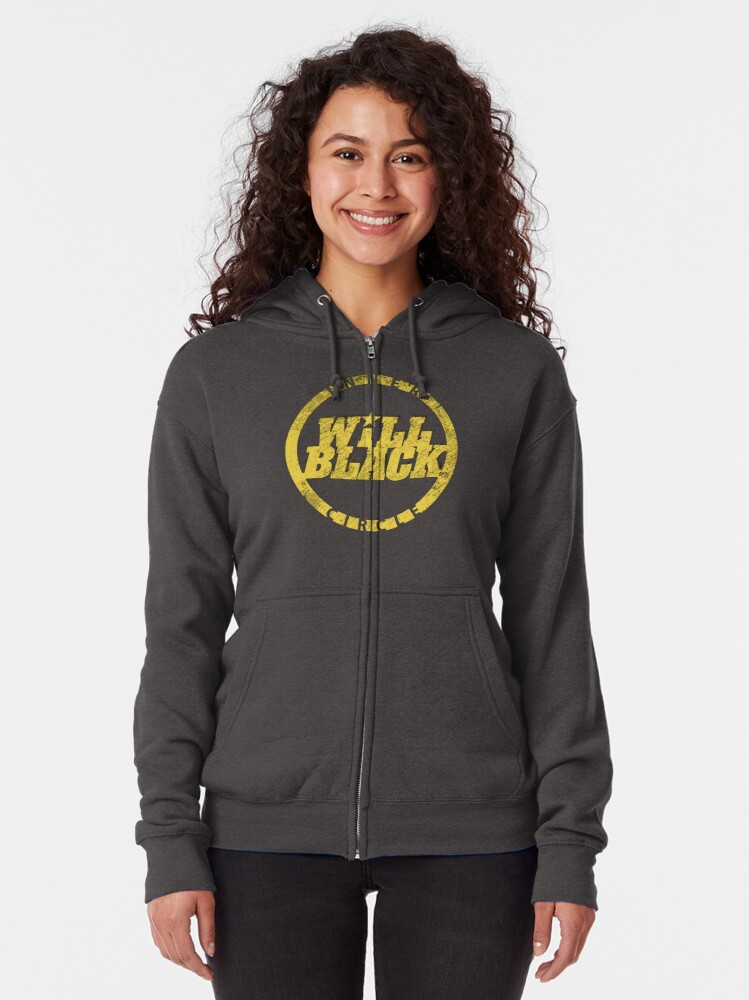 Alternate view of WB Inner Circle GOLD (center ice logo) Zipped Hoodie