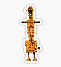 Robot Totem - BiLevel Orange Sticker