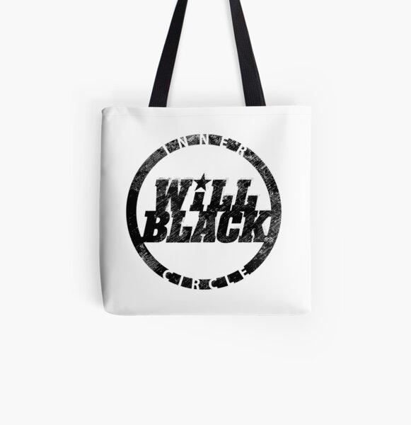 WB Inner Circle BLACK (center ice logo) All Over Print Tote Bag