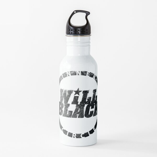 WB Inner Circle BLACK (center ice logo) Water Bottle