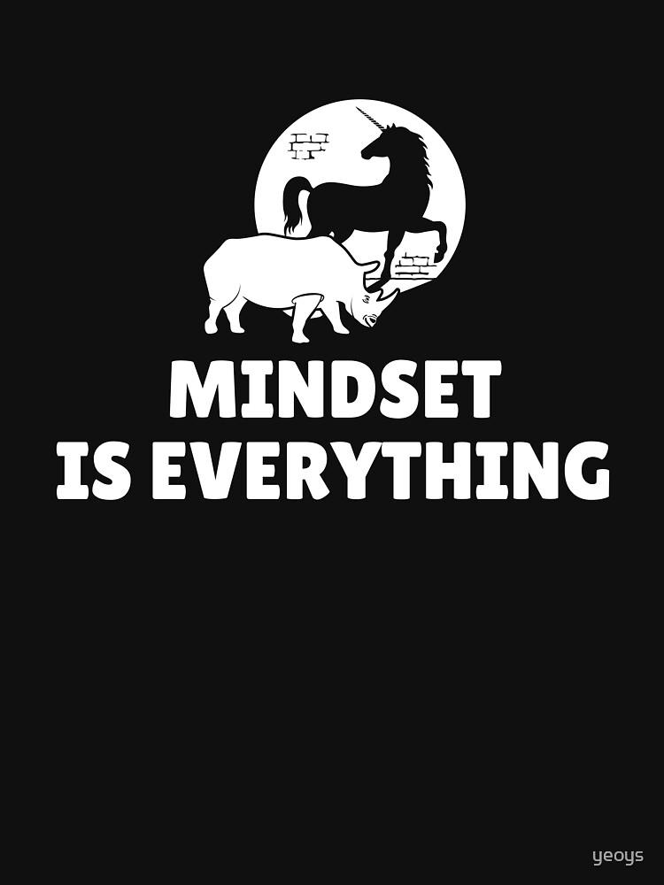 Mindset Is Everything Rhino Unicorn - Vision & Attitude by yeoys