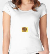flower center    Women's Fitted Scoop T-Shirt