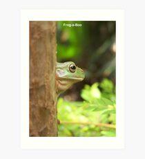 Frog-a-Boo Art Print