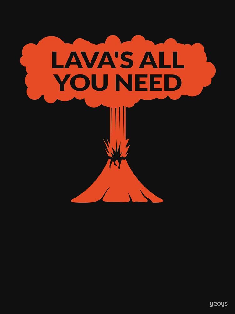 Lava's All You Need - Funny Lava Volcano by yeoys