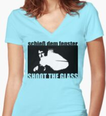 Die Hard: Shoot the glass Women's Fitted V-Neck T-Shirt