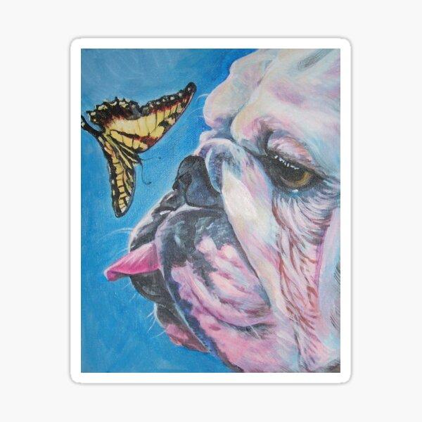 English Bulldog Fine Art Painting Sticker