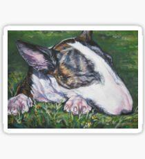 Bull Terrier Fine Art Painting Sticker