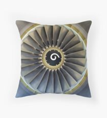 Jet engine detail. Throw Pillow