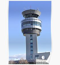 Airport Control Tower. Poster