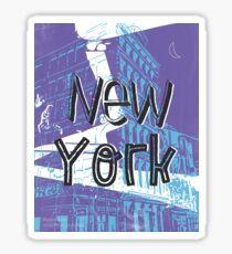 New York menthol midnight Sticker